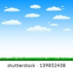 grass with cloud background | Shutterstock . vector #139852438