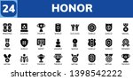 honor icon set. 24 filled honor ... | Shutterstock .eps vector #1398542222