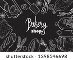 hand drawn set illustration on... | Shutterstock .eps vector #1398546698