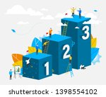 three steps. people. template.... | Shutterstock .eps vector #1398554102