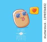 tiny cool potato cartoon...   Shutterstock .eps vector #1398556832