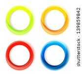 Set Of Four Colorful Circle...