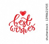 best wishes brush lettering.... | Shutterstock .eps vector #1398621935
