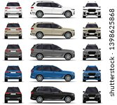 realistic suv car. cars set.... | Shutterstock .eps vector #1398625868