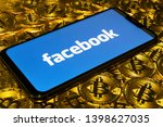gold bitcoin coins pile with... | Shutterstock . vector #1398627035