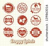 Vector Set  Vintage Pet Doggy...