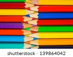 Many Colored Pencils Forming A...