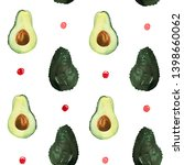 pattern of fruit painted with... | Shutterstock . vector #1398660062