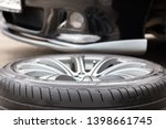 disassembled car wheel in the...   Shutterstock . vector #1398661745