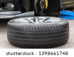 disassembled car wheel in the...   Shutterstock . vector #1398661748