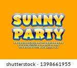 vector bright poster summer... | Shutterstock .eps vector #1398661955