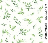 seamless pattern with green... | Shutterstock .eps vector #1398664175