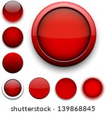 set of blank red round buttons... | Shutterstock .eps vector #139868845
