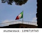 italian national flag of rome ...   Shutterstock . vector #1398719765