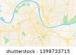 empty vector map of nashville ... | Shutterstock .eps vector #1398733715