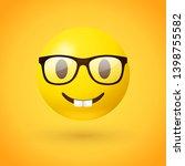 nerd face emoji   clever... | Shutterstock .eps vector #1398755582