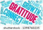 gratitude word cloud on a white ... | Shutterstock .eps vector #1398760235