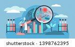 epidemiology vector... | Shutterstock .eps vector #1398762395