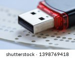 usb flash drive and obsolete... | Shutterstock . vector #1398769418