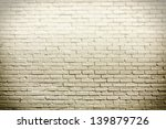 Fogy brick wall for background or texture - stock photo