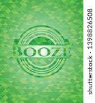 booze green emblem. mosaic... | Shutterstock .eps vector #1398826508