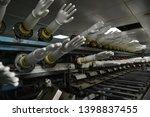 rubber gloves production line ...   Shutterstock . vector #1398837455