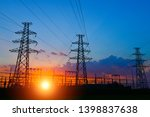 the power supply facilities of ...   Shutterstock . vector #1398837638