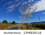 array of satellite dishes or...   Shutterstock . vector #1398838118