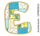 Roundish Font From Quilted Fro...