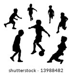 oung children playing soccer or ... | Shutterstock . vector #13988482