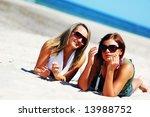 young attractive girls enjoying ... | Shutterstock . vector #13988752