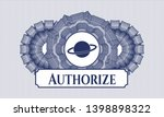 blue abstract rosette with... | Shutterstock .eps vector #1398898322