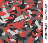 geometric camouflage seamless... | Shutterstock .eps vector #1398907535