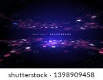 matrix of countless blocks  big ... | Shutterstock .eps vector #1398909458
