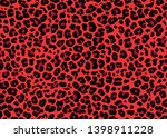 red leopard skin pattern design.... | Shutterstock .eps vector #1398911228