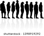 group of people. crowd of... | Shutterstock . vector #1398919292