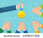 clap of the hands isolated on... | Shutterstock .eps vector #1398927308