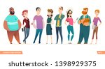 group of charismatic smiling... | Shutterstock .eps vector #1398929375