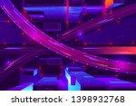 metropolis night freeway neon... | Shutterstock .eps vector #1398932768