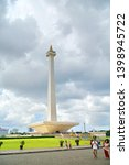 Small photo of Monas, Jakarta - ca 2019: National Monument or popularly abbreviated as Monas or Tugu Monas is a memorial monument erected to commemorate the struggle of the Indonesian people to seize independence
