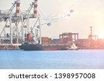 logistics and transportation of ...   Shutterstock . vector #1398957008