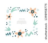 floral invitation with text... | Shutterstock .eps vector #1398958775