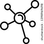 molecule icon vector... | Shutterstock .eps vector #1398969698