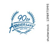90 years design template.... | Shutterstock .eps vector #1398975995