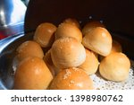 fresh homemade burger buns ... | Shutterstock . vector #1398980762