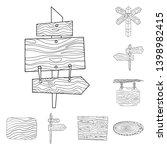 vector design of hardwood and... | Shutterstock .eps vector #1398982415