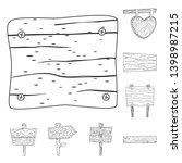 vector design of hardwood and... | Shutterstock .eps vector #1398987215