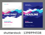 template design with dynamic... | Shutterstock .eps vector #1398994538