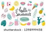 set of cute hand drawn summer...   Shutterstock .eps vector #1398999458