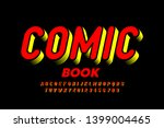 comic book style font  alphabet ... | Shutterstock .eps vector #1399004465